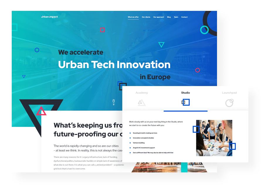 Urban Impact smart city startups agency case study